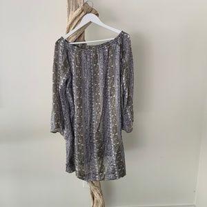 Calypso St Barth Off-Shoulder Silk Shift Dress M